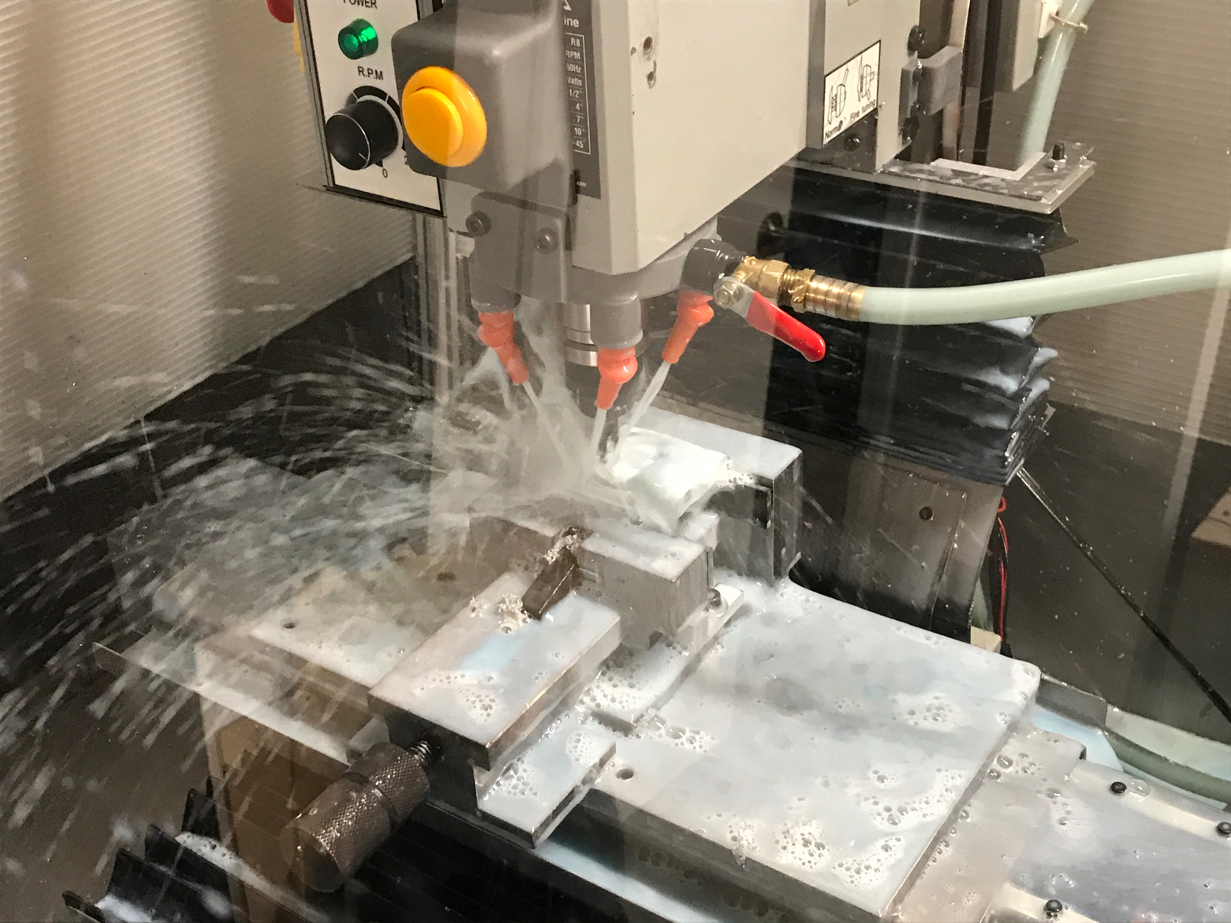Coolant while milling